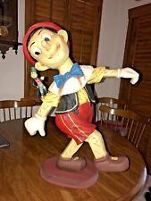 "Disney Original Pinocchio and Jiminy Cricket Big25"" tall Figurine Fiberglas?"