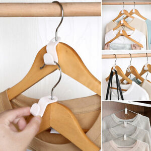 10/20Pcs Space Saving Wardrobe Hanger Connector Clothes Hanger Hooks Accessory
