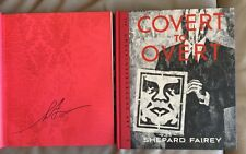 HAND-SIGNED! Shepard Fairey 'Covert to Overt' 1/1 new 2015 book + great extras!