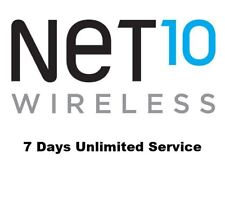 Net10 Wireless Refill PIN - 7 Days of Unlimited Talk + Text + Data