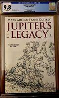 Jupiter's Legacy #1 CGC 9.8 Forbidden Planet Sketch Variant NM (2013) Quitely