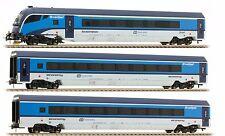 Jägerndorfer 70306 Railjet ČD, SET 3 carrozze livrea blu/azzurro/bianco