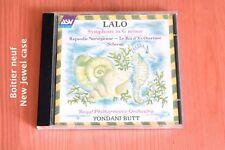 Lalo - Symphonie sol m Scherzo ré m Rapsodie norvégienne - Yondani Butt - CD ASV