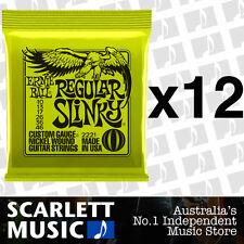 12x Ernie Ball Regular Slinky 10-46 Electric Guitar Strings *SET OF 12 PACKS*
