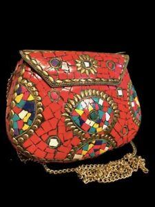 BEAUTIFUL ANCIENT COLOURED MOSAIC NEAR EASTERN SHOULDER BAG (1)