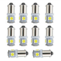 White Light Super Bright 12V T11 BA9S 5050 SMD 5-LED Car Bulb Lamp 10 Pcs