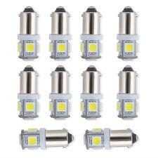 10 Pcs White Light Super Bright 12V T11 BA9S 5050 SMD 5-LED Car Bulb Lamp