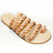 Greek Handmade Sandals Slide Leather Gladiator Ancient StyleThong Women Shoes