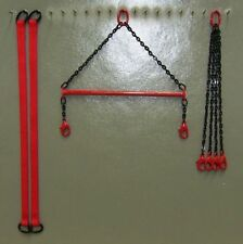 "4"" Brass Crane Spreader Bar Set in Mammoet Red. 1:50 1:48th Scale. USA Made"