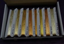 JAPANESE THICK GOLD THREAD, 8 SHADE SELECTION PACK,  8x10M OF EACH, GOLDWORK