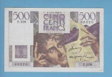 ( Ref: F.108) 500 FRANCS CHATEAUBRIAND 13/05/1948 (SPL-)  DATE TRES RARE