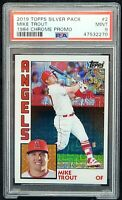 2019 Topps Chrome Refractive Angels MIKE TROUT Baseball Card PSA 9 MINT Pop 83