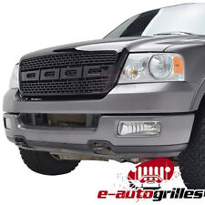 2004-2008 Ford F-150 Black ABS Front Bumper Upper Hood Grille
