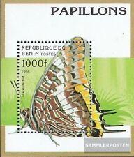 Benín Bloque 16 (compl.edición) nuevo con goma original 1996 Mariposas