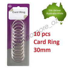 10 x Card Rings loose leaf Binder Ring Binders Scrap booking 30 mm Scrapbooking
