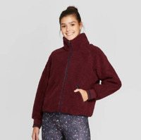 Women's Plush and Cozy Sherpa Full Zip Jacket - JoyLab - Port Royale - L - S685