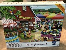 Country Afternoon 2000 Pc 32x24 Puzzle Nancy Wernersbach FREE Poster