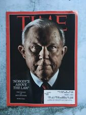 Time Magazine April 9, 2018 The Trials Of Jeff Sessions Free Shipping
