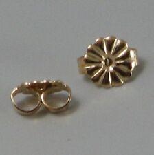 New Solid 14K Yellow Gold 6.25MM Secure Butterfly Ear Nut Earring Backs