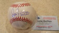Ozzie Guillen Chicago WS, Orioles, Braves signed 1985 ROY MLB/Ticket & COA