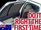 2 BLACK PRINT CAR SIDE REAR WINDOW SUN SHADES TINT – BABY KIDS FITS ANY CAR