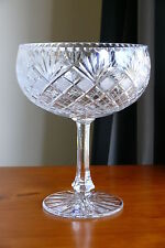 FINEST 24% LEAD CRYSTAL PEDESTAL BOWL, HAND CUT, Large