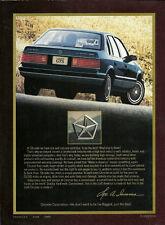1985 Chrysler LeBARON GTS Dealer Brochure/Catalog: TURBO