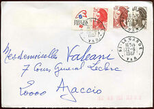 France 1987 Commercial Cover #C26115