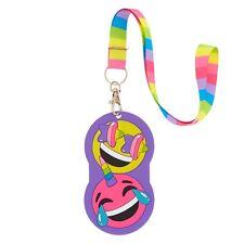 Rainbow Emoji Lanyard ID Holder Lanyard Keychain Document Holder Key Chain
