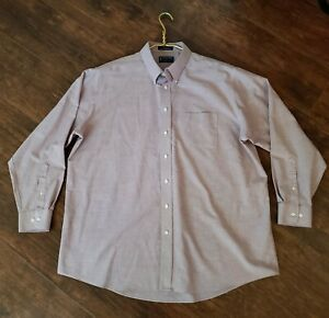Stafford Essentials Cotton Oxford Mens 18 Lavender Long Sleeve Dress Shirt & Tie