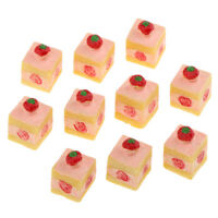 10pcs 3-layers Dessert Dollhouse Miniature Bakery Food Accessory 1/12 Scale