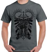 Savage - Two Punk Skulls Mens Biker T-Shirt Motorbike Bike Motorcycle Tattoo
