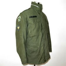 VINTAGE 1967 US ARMY M-65 M65 FIELD JACKET SMALL REG 4th INFANTRY PATCHE CONMAR