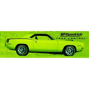 Reproduction BF Goodrich 1970 Green Cuda 15oz Vinyl  Banner.  3 Sizes Available.