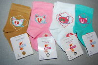 Baby Girls Kids Toddlers Ankle High Socks Pack of 4 Age 0-6 Months