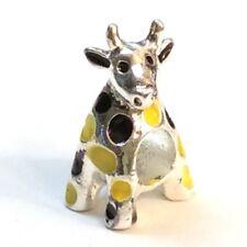 Giraffe Bead Shinny Silver Tone Slider Add a Bead for European Charm Bracelet