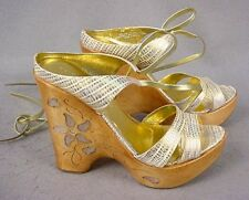 Report Inlaid Wedge Sandals sz 6