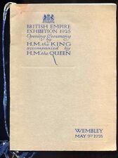 1925 9 maggio impero britannico mostra cerimonia di apertura (danneggiata)