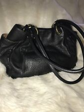 Beautiful Black Leather Hobo International Ladies Handbag