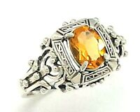 CITRIN   Ring   925 Sterling Silber  ANTIK STYLE