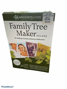 ancestry.com 2012 FAMILY TREE MAKER DELUXE Geneology Kit In Box Excellent Cond