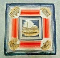 Venezia Women's Vintage Scarf 100% Silk Size-31x30 inches