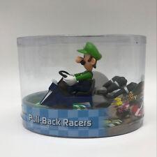 "Super Mario Kart Luigi Pull Back Racer PVC Plastic Figure Collectible Car Toy 5"""