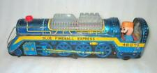 Vintage Battery Operated Fireball Express Train Engine Blue Tin Toy Japan Made