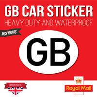 Legal GB Car Sticker Sign Decal EU European Road Badge Vinyl Bumper Weatherproof
