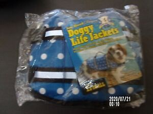 Blue Dot dog doggy pet life vest jacket  XXS Paws Aboard new XXSmall