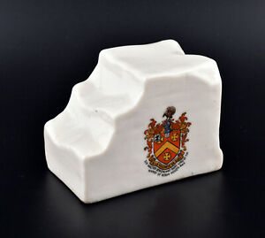 W.H Goss Crested China Whitby Pillion Stone * Sir Walter Strickland Bart *