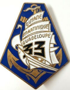 33° Régiment d'Infanterie de Marine, émail