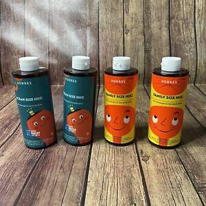 4 PACK Korres Family/ Ocean Size Hug Kids Shower Gel Bath Wash Sensitive Skin