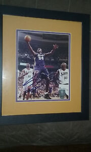 Autographed Shaquille O'neal 8 x 10 framed and matted